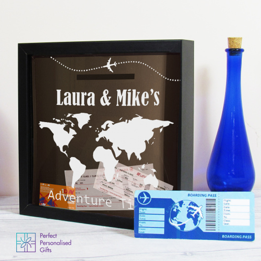 Personalised Travel Adventure Ticket Keepsake Box