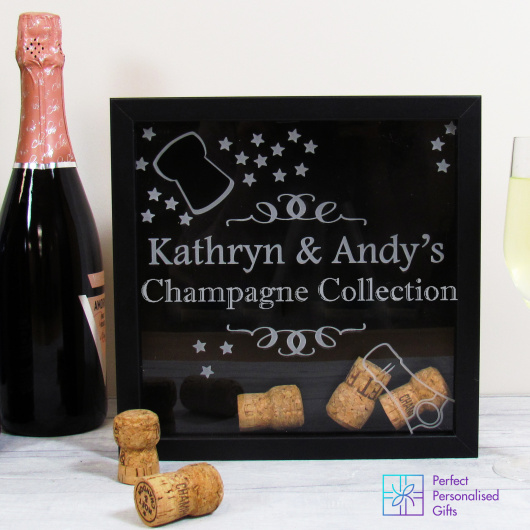 Personalised Champagne Cork Collection Box