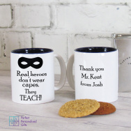Personalised Teacher Real Heroes Teach Mug