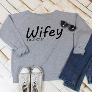 Personalised Wifey Wedding Sweatshirt