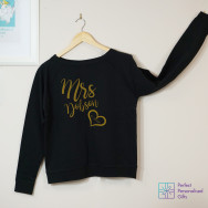 Personalised Mrs Wedding Sweatshirt
