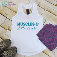 Personalised Gym Muscles & Mascara TriDri Racerback Vest