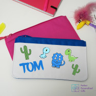 Personalised Dinosaur Character Pencil Case
