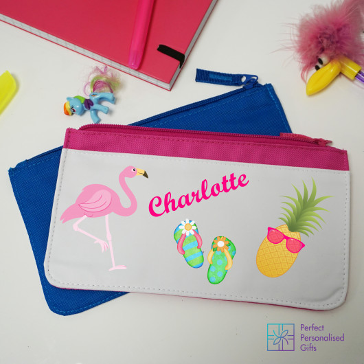 Personalised Tropical Pencil Case
