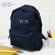 Personalised Rainbow Name Back Pack
