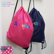 Personalised PE/Gym Bag Rainbow