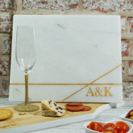 Personalised Marble Cheese Board Linea