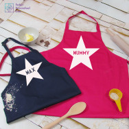 Personalised Parent & Child Apron Set