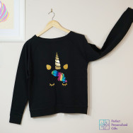 Personalised Sparkly Unicorn Sweatshirt
