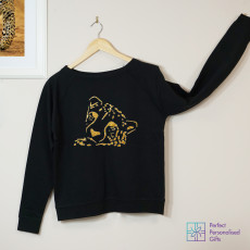 Personalised Gold Leopard Sweatshirt
