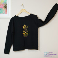 Personalised Sparkly Pineapple Sweatshirt