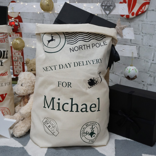 Personalised Personalised Christmas Santa Sacks