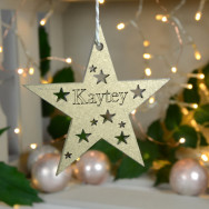 Personalised Gold Star Bauble