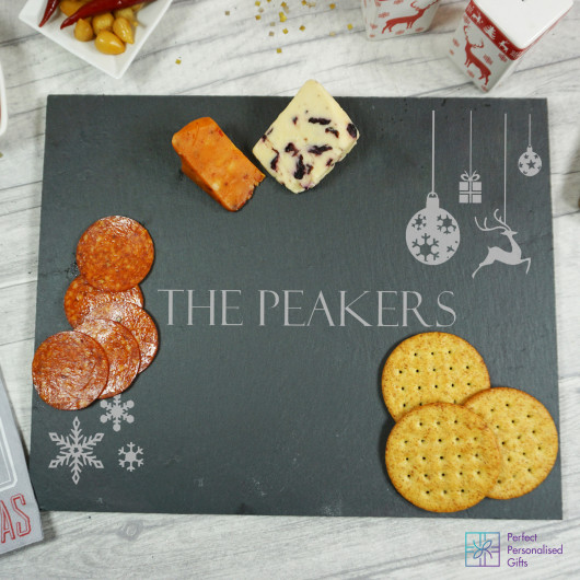 Personalised Christmas Slate Cheeseboard