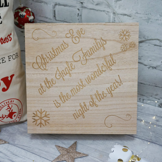 Personalised Most Wonderful Time Christmas Eve Box
