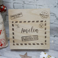 Personalised Christmas Eve Box Letter Design