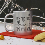 Personalised Most Wonderful Time Of The Year Christmas Mug