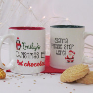 Personalised Christmas Hot Chocolate Mug