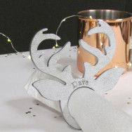Personalised Stag Napkin Rings Name Place Setting