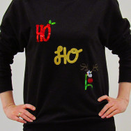 Personalised HO HO HO Christmas Jumper