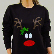 Personalised Christmas Reindeer Jumper