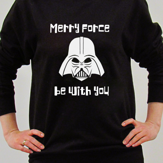 Personalised Merry Force Be With You Christmas Jumper