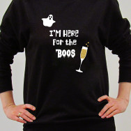 Personalised Halloween I'm Here for the BOOS Sweatshirt