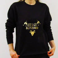 Personalised Let's Get BLITZENED Christmas Jumper