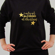 Personalised I Only Get BLITZENED at Christmas Jumper