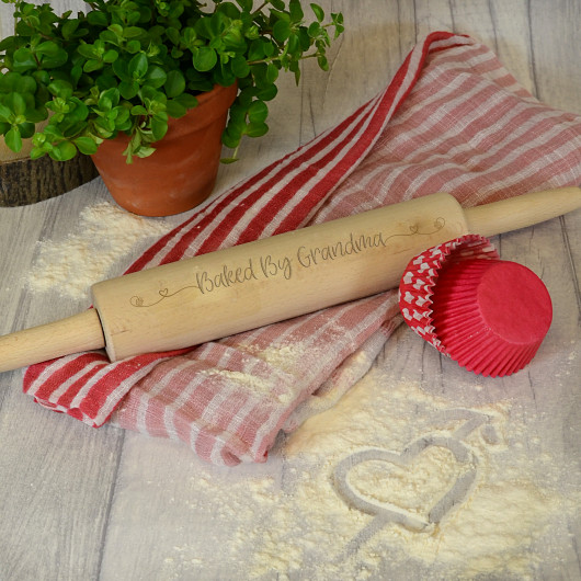 Personalised Baked By... Rolling Pin