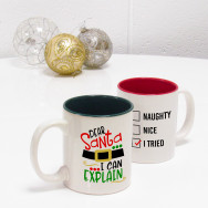 Personalised Santa I Can Explain Novelty Mug