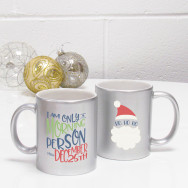 Personalised Christmas Morning Person Novelty Mug