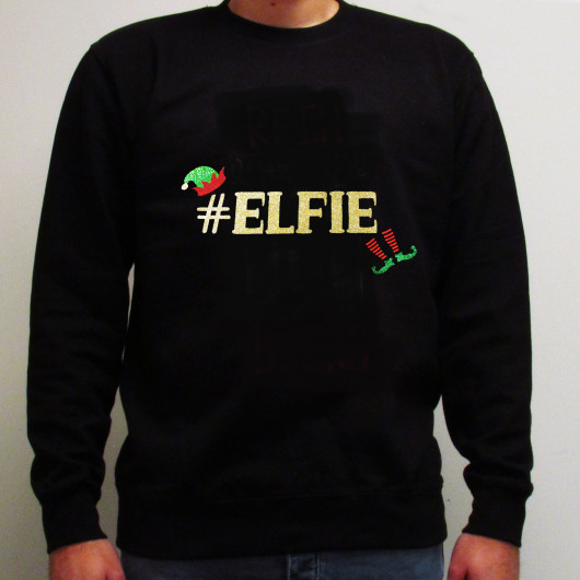 Personalised #Elfie Christmas Jumper
