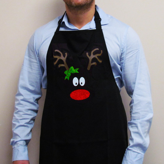 Personalised Reindeer Face Christmas Apron