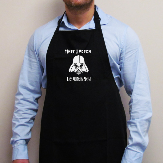 Personalised Merry Force Be With You Christmas Apron