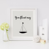 Personalised You Float My Boat Print