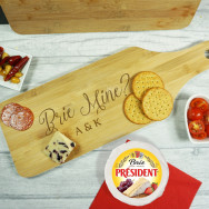 Personalised Brie Mine Bamboo Paddle