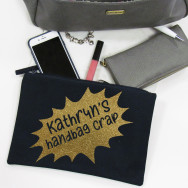 Personalised Handbag Crap Grab Bag