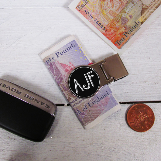 Personalised Initial Monogrammed Money Clip