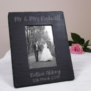 Personalised Wedding Slate Photo Frame