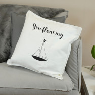 Personalised You Float My Boat Cushion