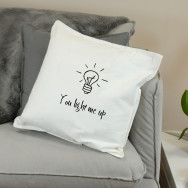 Personalised You Light Me Up Cushion