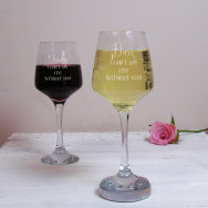 Personalised I Can't Say I Do Wedding Wine Glass