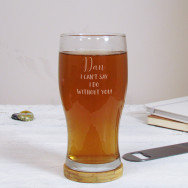 Personalised I Can't Say I Do Wedding Pint Glass