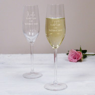 Personalised I Can't Say I Do Wedding Champagne Flute
