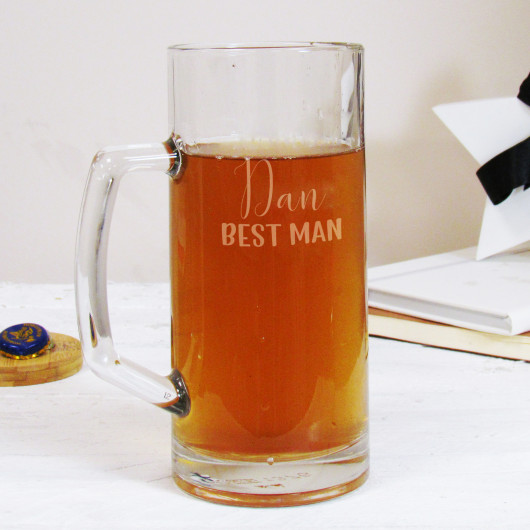 Personalised Best Man Wedding Beer Tankard