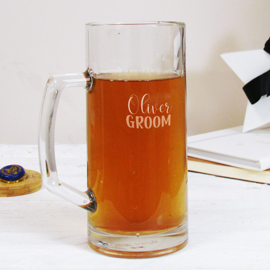 Personalised Groom Wedding Beer Tankard
