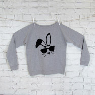 Personalised Easter Bunny Slouch Sweatshirt