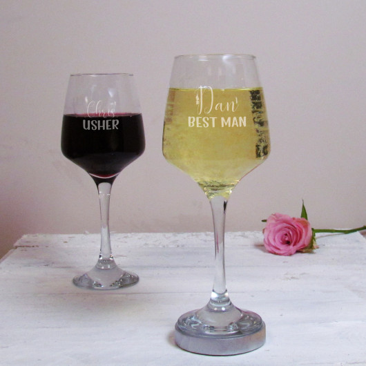 Personalised Best Man Wedding Wine Glass