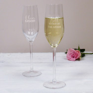 Personalised Father of the... Wedding Champagne Flute